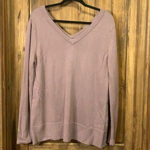Market and spruce double V-neck sweater